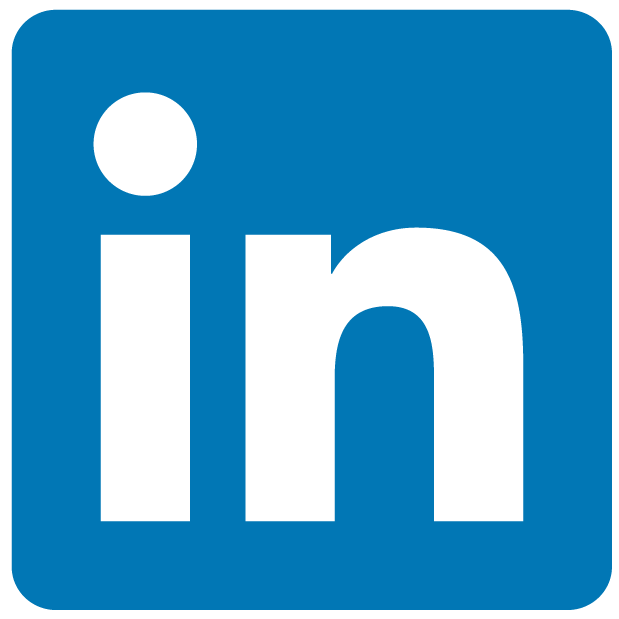 linkedin logo blue and white